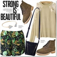 Strong Is Beautiful by oshint on Polyvore featuring moda