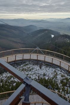 Sky Walk by Franek Architects is situated 1,116 metres above sea level, at the top of a chair lift near the village of Dolni Morava