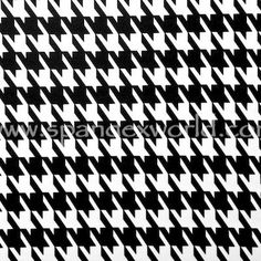 Black & White Houndstooth Made to Order