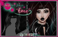 Emo Instant Hair PSD, $1.50