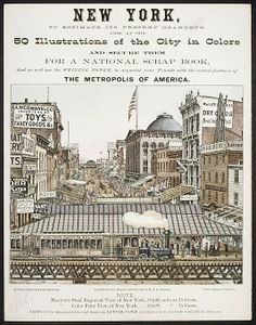 Charles Magnus & Company (New York, NY). New York, to Estimate its Present Grandeur Look at our 50 Illustrations of the City in Color...and acquaint your Friends with the actual features of the Metropolis of America,1850–1900. The Metropolitan Museum of Art, New York. The Edward W .C. Arnold Collection of New York Prints, Maps and Pictures, Bequest of Edward W. C. Arnold, 1954 (54.90.1284) #newyork #nyc