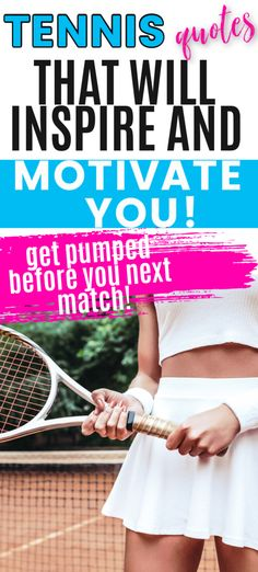 Get inspired to play tennis with these motivational tennis quotes.  Read them before your next tennis match to get pumped up and ready to play tennis with a winning attitude. Inspirational Tennis Quotes, Motivational, Tennis Match, Play Tennis, Tennis Workout, Tennis Tips, Feeling Lonely, Ready To Play, Match Me