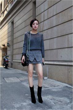 street style l moda para ella Korea Fashion, Kpop Fashion, Asian Fashion, Girl Fashion, Fashion Trends, Flapper Fashion, 20s Fashion, Fashion 2014, Ulzzang Fashion