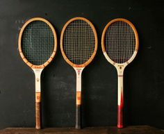 Keeping fit with your kids, tennis is the perfect sport and I love these vintage tennis rackets, so cool