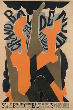 Grand bal de nuit - Grand bal des artistes - salle Bullier - 1926 - illustration de Natalia Gontcharova - Paris - France -