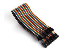 40 pins 30 cm female to female jumper wire (flat cable) - Development Boards - Kits & Development Tools - VellemanStore