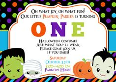 Mickey Mouse Halloween Birthday invitation | Halloween | Pinterest ...