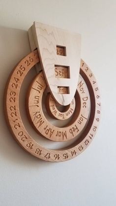 Perpetual calendar wooden perpetual calendar wood calendar perpetual calender forever calendar never ending calendar wooden calendar Woodworking For Kids, Woodworking Projects, Woodworking Plans, Woodworking Videos, Woodworking Classes, Woodworking Furniture, Woodworking Shop, Woodworking Quotes, Woodworking Techniques