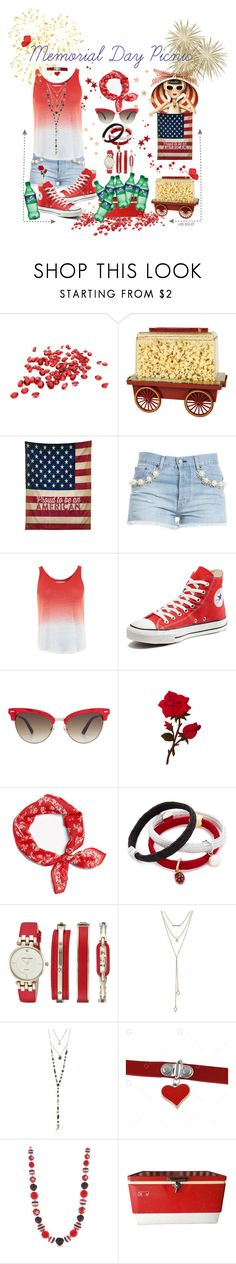 """""""Memorial Day Picnic"""" by hbbrat ❤ liked on Polyvore featuring Chef Buddy, DENY Designs, Forte Couture, Velvet by Graham & Spencer, Converse, Gucci, rag & bone, Marc Jacobs, Anne Klein and SUGARFIX by BaubleBar"""