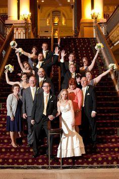 Informal Wedding Group Shot