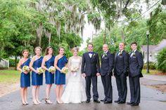 "Dana Cubbage Weddings // Charleston SC + Destination Wedding Photographer.  Our bride Meg! Wearing Augusta Jones ""Bell"" and Jenny Yoo bridesmaids dresses"