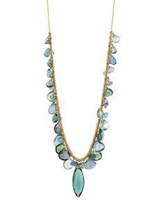 Dana Kellin Blue and Green Quartz Necklace