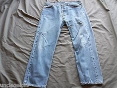 Levi Mens Classic 501 Button Fly Jeans Size 38 X 30