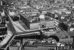 c1925.. The Stadtschloss or City Palace on the River Spree.. demolished in 1950 as well as the Kaiser Wilhelm Denkmal