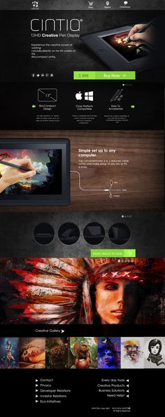 Cool Web Design on the Internet, CINTIQ. #webdesign #webdevelopment #website @ http://www.pinterest.com/alfredchong/web-design/