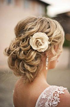 Wedding hair-do.
