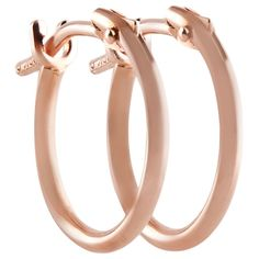 Pori 18k Rose Gold 2x10mm Circle Hoop Earrings (2x10 Circle, Rose, 18k), Women's, Size: Small (velvet)
