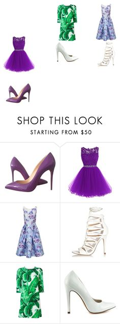 """Untitled #31"" by chinesharris on Polyvore featuring Christian Louboutin, Chi Chi, River Island, Dolce&Gabbana and Michael Antonio"