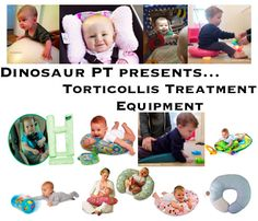 Torticollis Treatment Equipment Ideas: Tools and Toys to help address Torticollis in children! Pediatric Physical Therapy and Torticollis Treatment