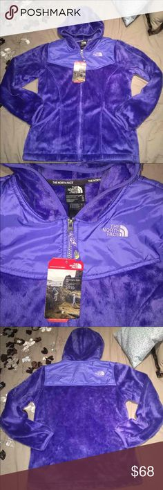 North Face Oso Jacket New with tags. The North Face Youth Girls Oso Hoodie jacket. Can fit a women's size medium. Retails for $99. So soft and cozy!  Color: Starry Purple Size: Youth Girl/Big Kids XL(18)  Product Description:   Comfortable fleece hoodie that you'll never want to take off. For cold weather use as either a standalone jacket or a layering piece. Plush fleece fabric for reliable warmth and comfort. Full zip front with an attached hood. Abrasion-resistant taffeta panels at…