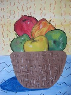 MaryMaking: Cezanne Meets Matisse Apple Still Life Cezanne Art, 3rd Grade Art Lesson, Artist Project, School Art Projects, Apple Art Projects, Middle School Art, Art School, School Stuff, Art Lessons Elementary