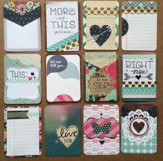 handmade Project Life card set