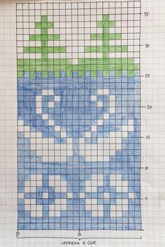 Käsin piirretty mallikuvio tuubihuiville. Knitting Charts, Knitting Socks, Knitting Stitches, Fair Isle Chart, Fair Isle Pattern, Tapestry Crochet, Crochet Motif, Canvas Patterns, Knitting Patterns