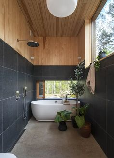 Architecture Design, House Ideas, Bathtub, Interior Design, Bathroom, Furniture, Summer, Bathrooms, Houses
