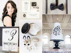 Classic black and white wedding inspiration by Burnett's Boards