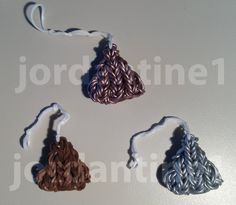 How To Make A New Rainbow Loom Hershey Kiss Candy Charm - Valentine's Day
