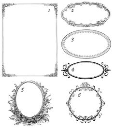 200  Free Vintage Ornaments, Frames and Borders - great for labels for organizing.