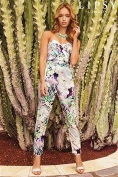 Lipsy Printed Jumpsuit.... this is too cute