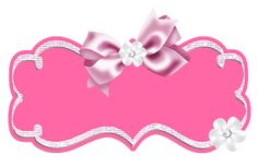 Cute Labels with ribbons or bows.
