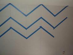 @Jenn L Milsaps L Black How To Paint Chevron Walls