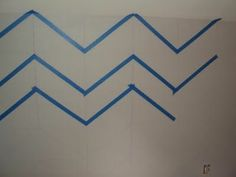 @Jenn L Milsaps L Black How To Paint Chevron Walls