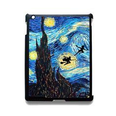 Peter Pan And Harry Potter Starry Night Phonecase Cover Case For Apple Ipad 2 Ipad 3 Ipad 4 Ipad Mini 2 Ipad Mini 3 Ipad Mini 4 Ipad Air Ipad Air 2