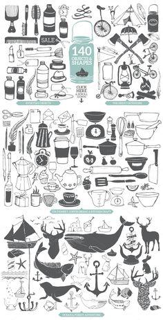 Designer's Hand Sketched Megapack - Illustrations - 4