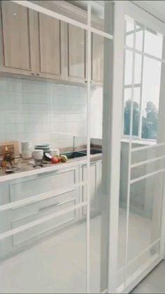 Kitchen Room Design, Home Decor Kitchen, Interior Design Kitchen, Kitchen Furniture, Home Kitchens, Furniture Design, Tidy Kitchen, Kitchen Rack, Kitchen Ideas