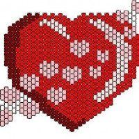 Схемы в технике мозаичного плетения бисером и ткачество бисером Сердце