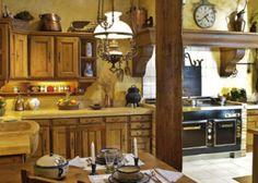 cocina rural de madera
