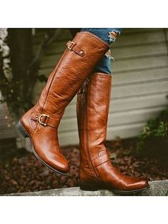 Load image into Gallery viewer, Retro Low Heel PU Zipper Boots Women Warm Boots Low Heel Boots, Flat Boots, Low Heels, Shoe Boots, Women's Shoes, Shoes Style, Ankle Boots, Dress Boots, Casual Shoes