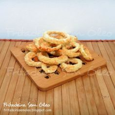 Onion rings na AirFryer Multi Cooker Recipes, Slow Cooker Recipes, Empanada, Onion Rings Air Fryer, Air Flyer, Power Air Fryer Recipes, Multicooker, Just Cooking, Antipasto