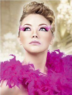 Pink Corner Feather Eyelashes