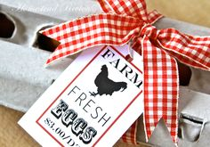 Homestead Revival: Inspiration Friday: Chicken Carton Labels. Farm Fresh. -- send some farm fresh eggs to your neighbor in cute style!