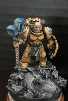 Captain, Imperial Fists, Space Marines, Thunder Hammer And Storm Shield