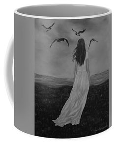 Woman Coffee Mug featuring the drawing Purity by Faye Anastasopoulou Fusion Art, Ocean Scenes, Mugs For Sale, My Themes, Basic Colors, Artist At Work, Color Show, Colorful Backgrounds, Coffee Mugs
