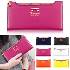 New womens #ladies clutch zipper leather #wallet coin #purse long handbag bag, View more on the LINK: http://www.zeppy.io/product/gb/2/381376319920/