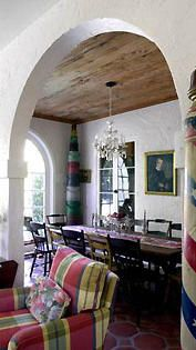 Dining room of an Addison Mizner home