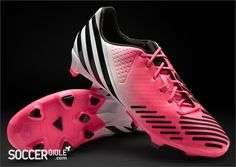 adidas Predator LZ DB Football Boots - Olympic Pink/White/Black - http://www.soccerbible.com/news/football-boots/archive/2012/05/17/adidas-predator-lz-db-football-boots-pink-white-black.aspx