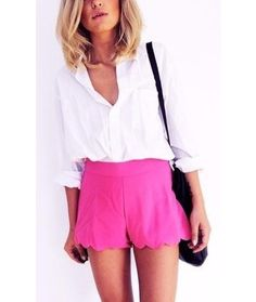 Scoop up Scalloped Shorts